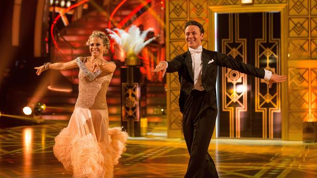 Kellie Bright and Kevin Clifton during a dress rehearsal for Strictly Come Dancing (BBC/PA)