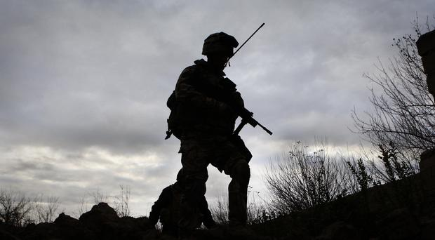 British forces on patrol in the Sangin district in 2009, as troops have gain been deployed to fight the Taliban