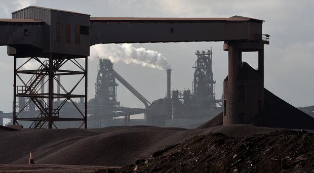 The Tata Steel plant in Scunthorpe