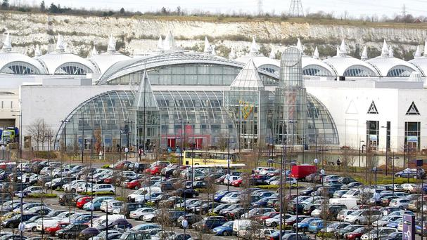 Drivers were stuck for hours at the Bluewater Shopping Centre in Kent