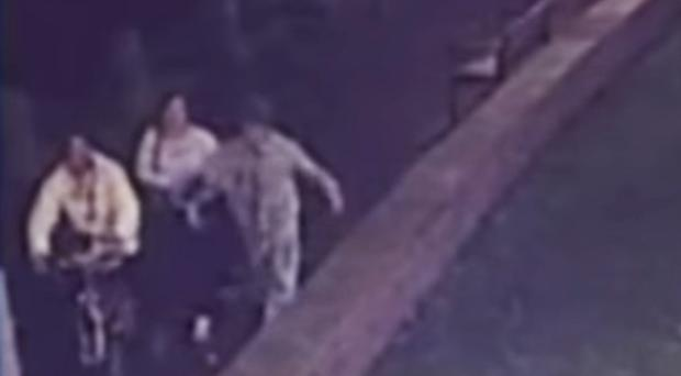 CCTV showed the two victims being punched and kicked on the evening of December 8