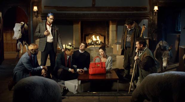 An image from the Mulberry advert which has been cleared after viewers complained that it was offensive for replacing the baby Jesus with a handbag (Advertising Standards Authority/PA)