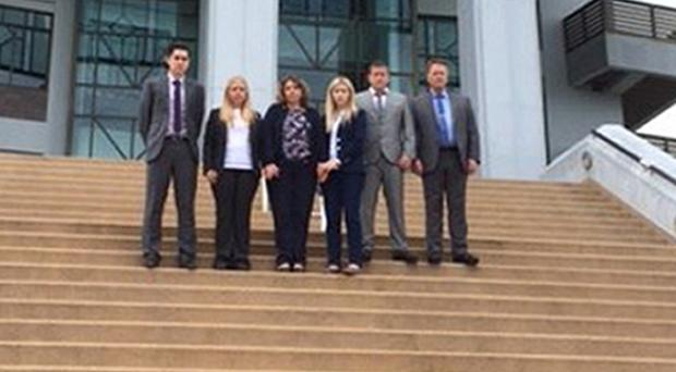Hannah Witheridge's friends and family attended the opening of the trial on the Thai island of Koh Samui (Wiltshire Police/PA)