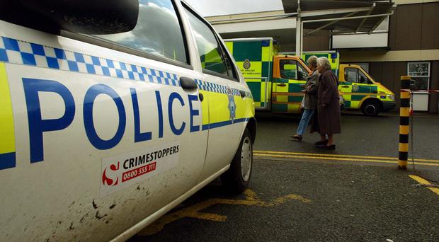 Police took the man to West Suffolk Hospital in Bury St Edmunds after he became ill
