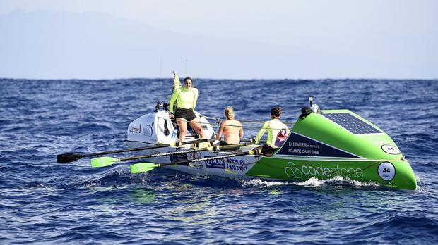 The Row Like a Girl team on the first day of the Talisker Atlantic Challenge