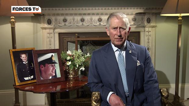 The Prince of Wales in his Christmas message broadcast to servicemen and women (Forces TV/PA)