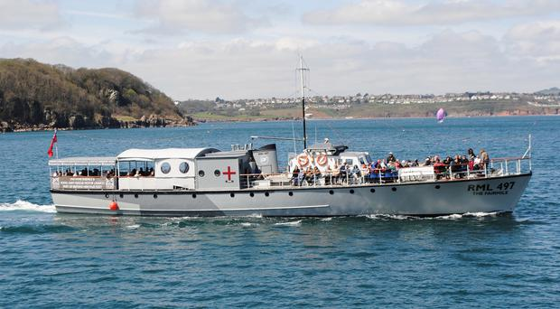 The Rescue Motor Launch 497, the boat used to rescue fallen airmen in the Second World War