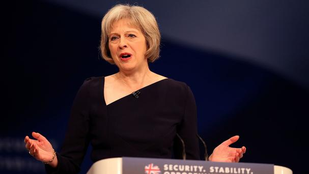 Theresa May said the was focused on David Cameron's negotiations over Britain's EU membership