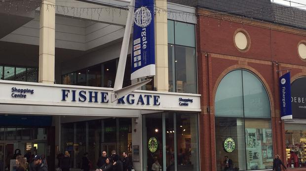 An incendiary device was left in the Preston shopping centre