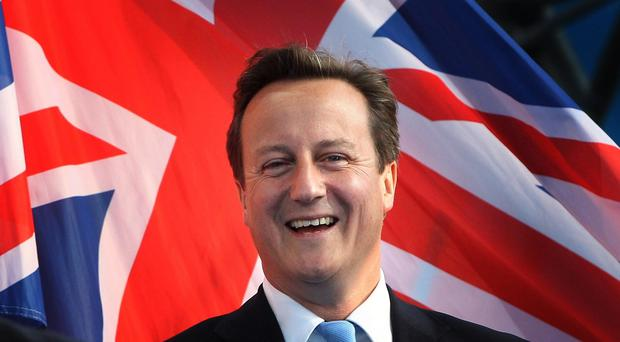 David Cameron sounded an upbeat note in his New Year message