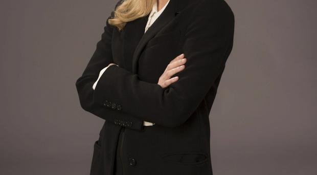 Gillian Anderson's blonde locks in The Fall