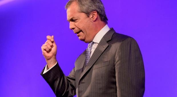 Close call: Nigel Farage
