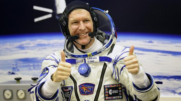 Tim Peake concluded his message with what he believed was the first