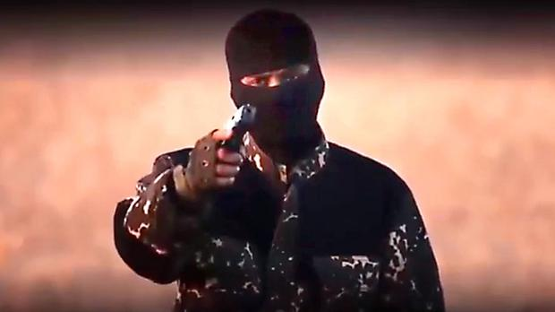 A masked jihadi with a British accent mocking David Cameron in a purported Islamic State video (YouTube/PA)