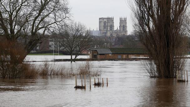 York was one of many places flooded in the wettest month on record