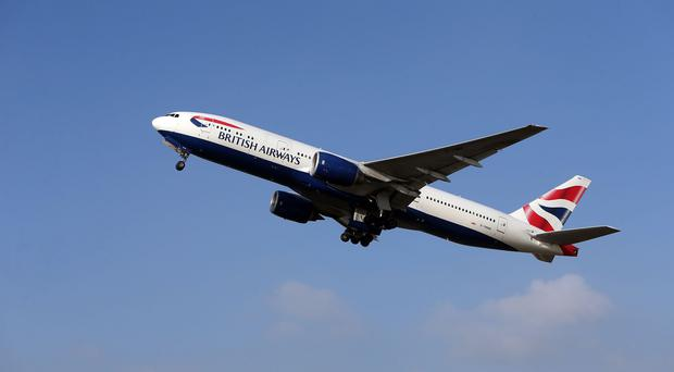 The British Airways jet landed safely in Dubai