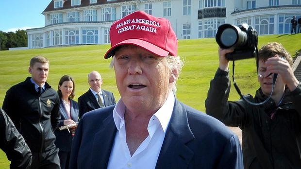 Donald Trump pictured on a visit to Turnberry