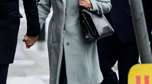 Eva Carneiro arrives for the hearing in London yesterday