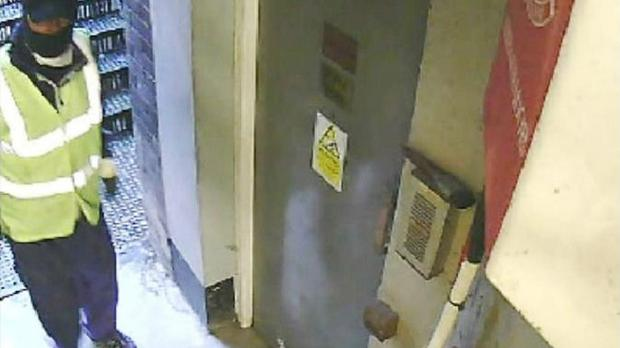CCTV still of a male in the fire escape corridor at the Hatton Garden Safe Deposit Company, shown to the jury in the raid trial at Woolwich Crown Court (Metropolitan Police/PA)