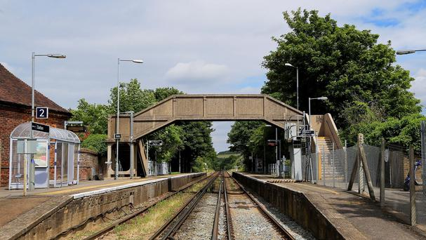 Chartham railway station in Kent, where retired academic David Ashworth died