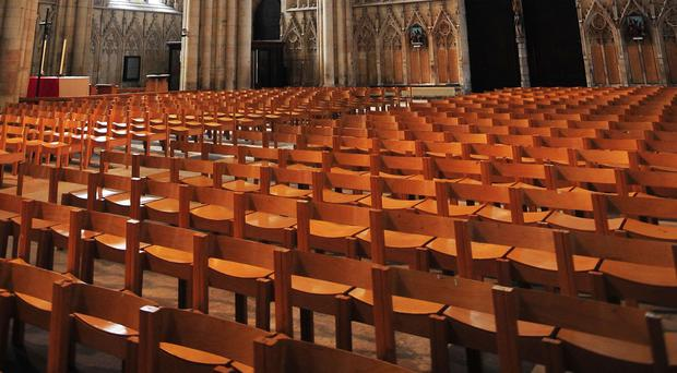The Church of England has seen weekly attendance numbers dwindle to below one million