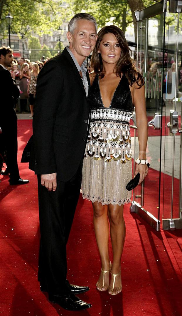 Gary Lineker with his ex-wife Danielle at a red carpet premiere in London
