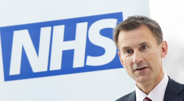 Jeremy Hunt said hospitals must balance their books in order to access cash from the transformation fund