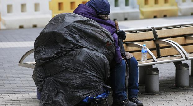 Homeless people were left in soaking wet clothes after the incident
