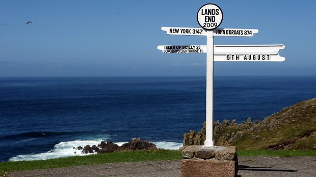 Land's End is visited by whales, dolphins, leatherback turtles and basking sharks