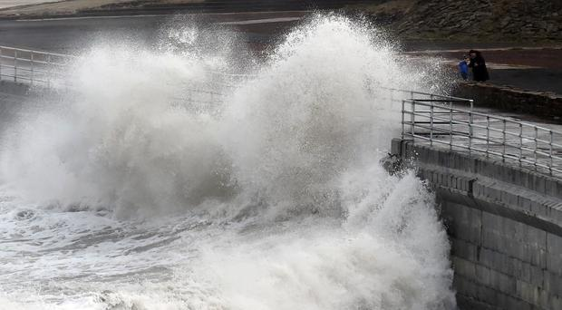 Police have warned the public about the dangers posed by waves on the seafront