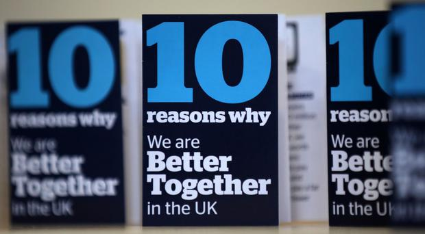 The Better Together campaign has been fined £2,000 for failing to deliver a complete campaign expenditure report for the Scottish independence referendum in 2014