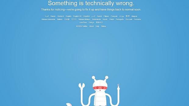The Twitter website was down for two hours yesterday