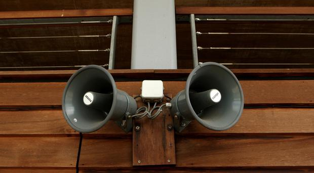 Sources of ultrasound in public places include loudspeakers and public address systems