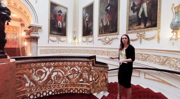 Anna Reynolds of the Royal Collection Trust in the virtual reality tour