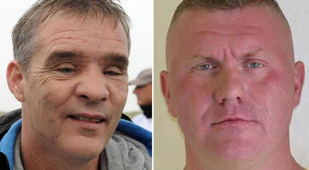 Pc David Rathband, left, was blasted twice and left for dead by gunman Raoul Moat