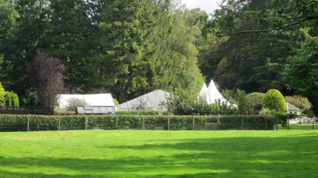 The marquee at a wedding celebration on the grounds of Larch Cottage in Ecclerigg, Windermere, which was the scene of the explosion