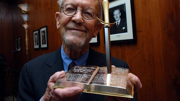 Elmore Leonard, pictured, was a previous recipient of the Diamond Dagger award which has now been won by Peter James
