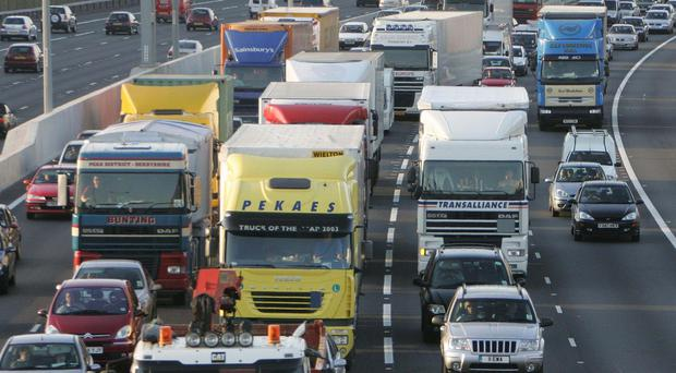 A lorry driver from Northern Ireland has spoken of being caught up in chaotic scenes in Calais as migrants seeking to get to the UK stormed a ferry