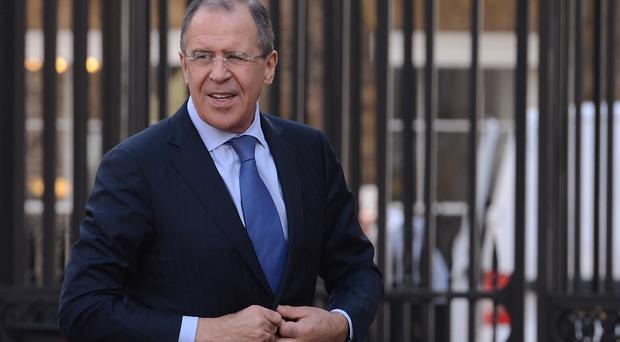 Russian foreign minister Sergei Lavrov has accused British officials of