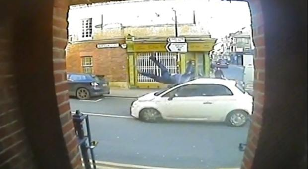 Andy Payne was hit by a Fiat 500 in Kemptown, Brighton (Sussex Police/PA)
