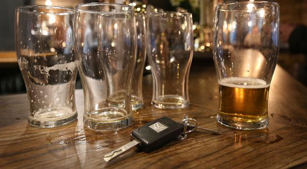 The limit in England and Wales is 80mg of alcohol per 100ml of blood