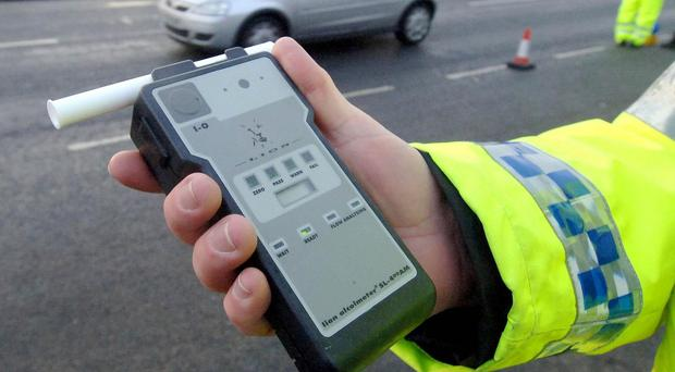 Fewer motorists were tested for drink-driving in December but the proportion testing positive was higher than a year earlier
