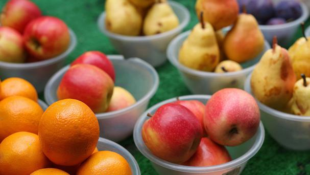 Fruit such as apples and pears are high in flavonoids