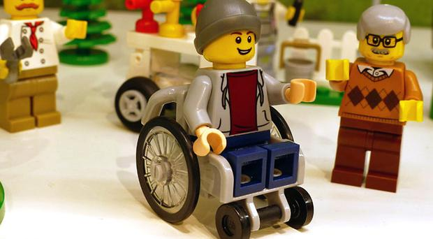 The first Lego disabled mini-figure (promobricks/PA)