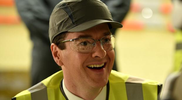 Chancellor George Osborne during a visit to the Airbus factory in Filton, Bristol.