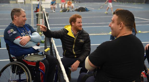 Prince Harry attends the UK team trials for the 2016 Invictus Games