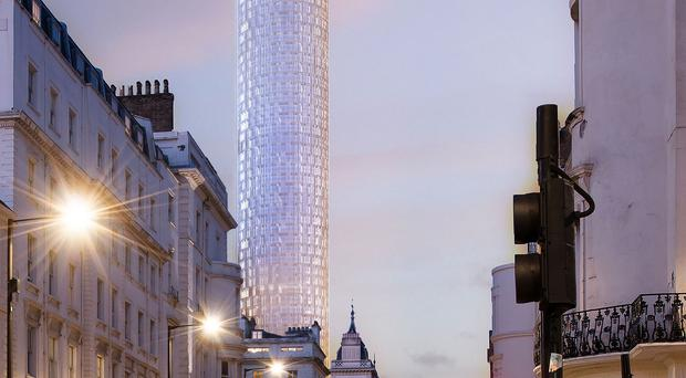Artist's impression issued of the proposed tower block at 31 London Street, Paddington (PA/Great Western Developments Ltd)