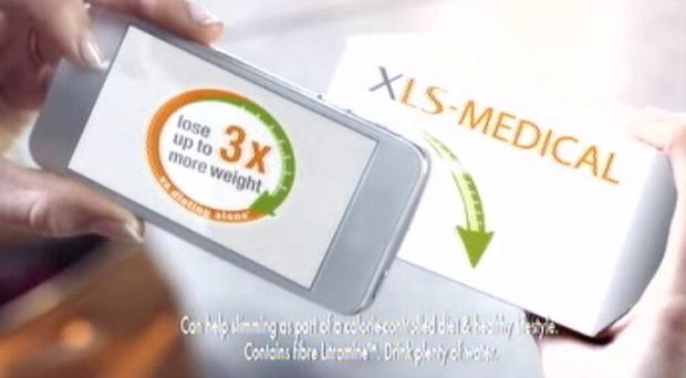 The advert for weight-loss tablets XLS Medical which has been banned following 200 complaints (ASA/PA)