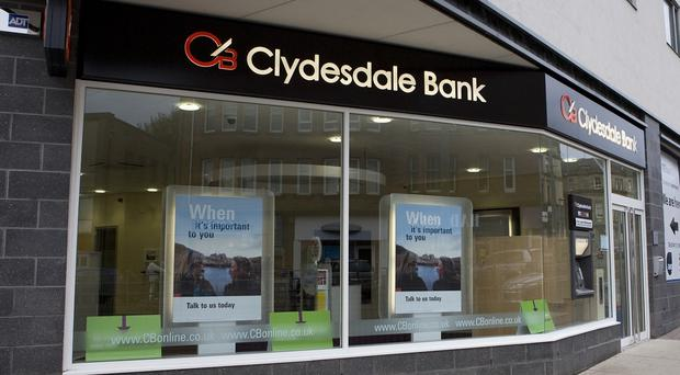 Float prices for Clydesdale Bank came in at the low end of estimates, at 180p (Clydesdale Bank/PA)