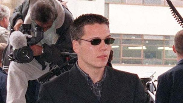 Jamie Acourt arriving to give evidence at the 1998 public inquiry into killing of Stephen Lawrence